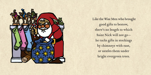 Saint Nicholas the Giftgiver: Interior Spread Sample