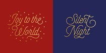Gold Text 10-Pack Christmas Cards