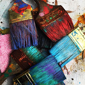 The Gift of Wonder - photo of colorful paintbrushes